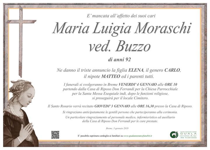 Necrologio di Maria Luigia Moraschi ved. Buzzo