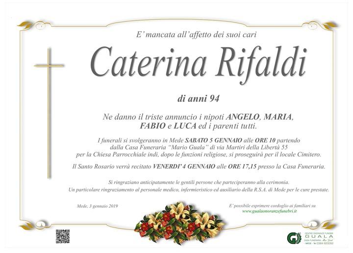 Necrologio di Caterina Rifaldi (Rina)