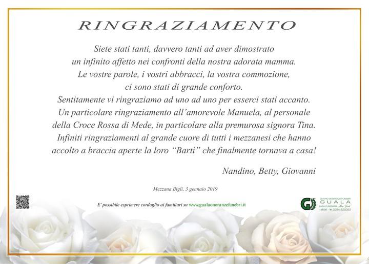 Ringraziamento per Umbertina Scappini (Bertina)