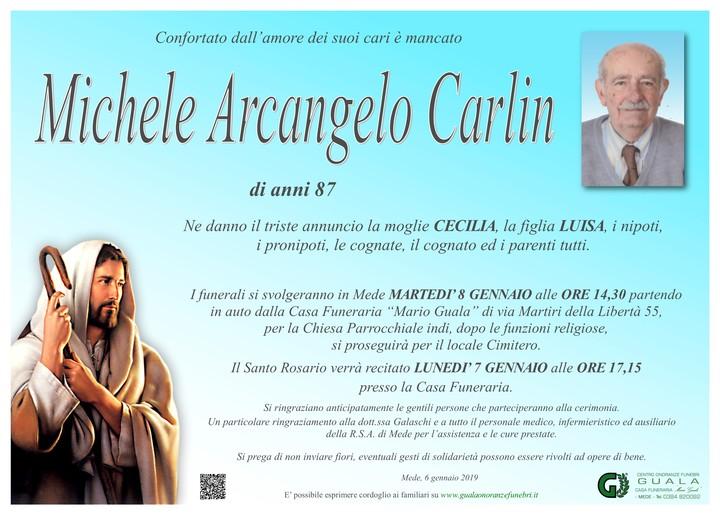 Necrologio di Michele Arcangelo Carlin