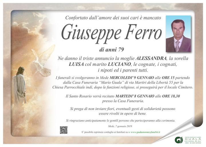 Necrologio di Giuseppe Ferro