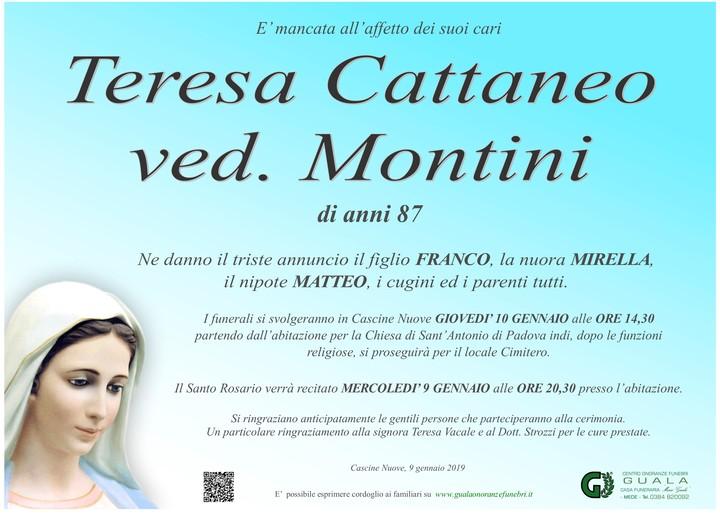 Necrologio di Teresa Cattaneo ved. Montini