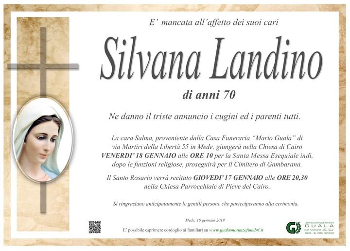 Necrologio di Silvana Landino