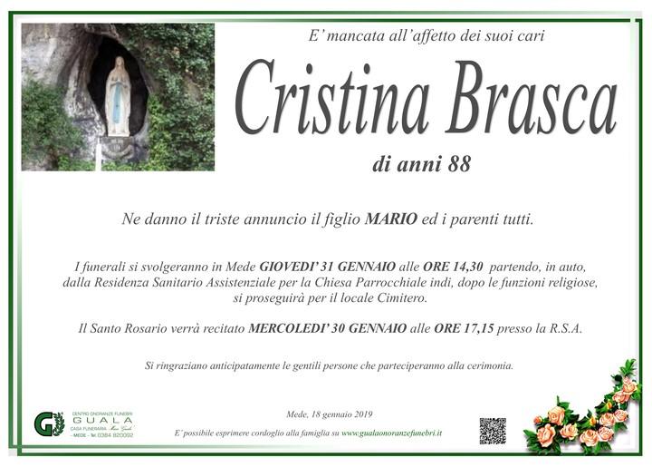 Necrologio di Cristina Brasca