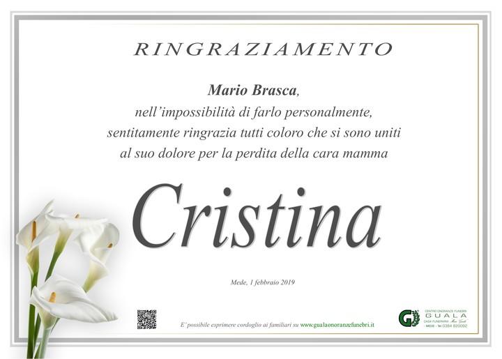 Ringraziamenti per Cristina Brasca
