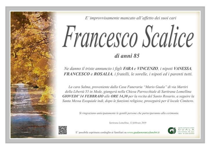Necrologio di Francesco Scalice