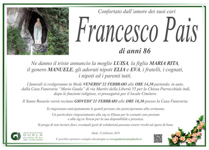 Necrologio di Francesco Pais