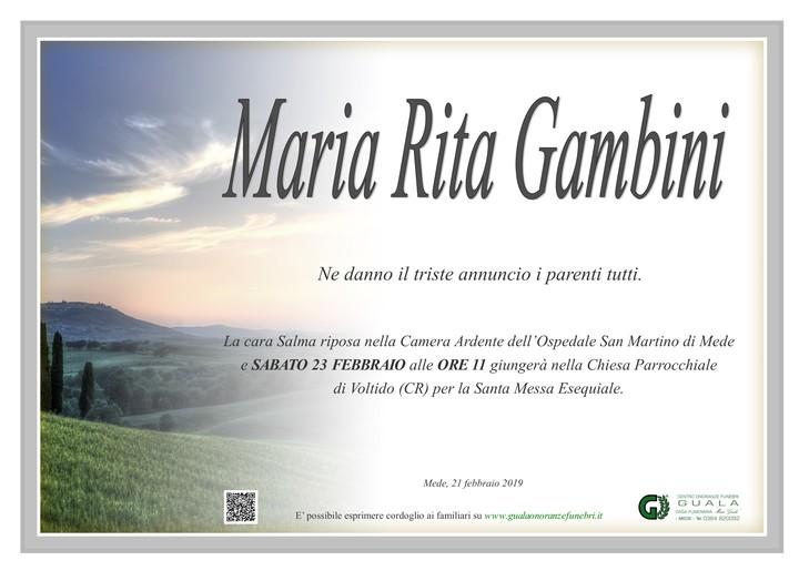 Necrologio di Maria Rita Gambini