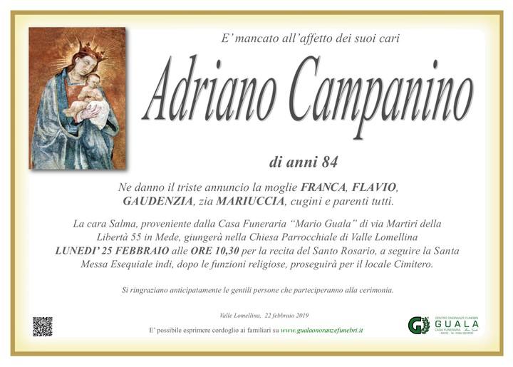 Necrologio di Adriano Campanino