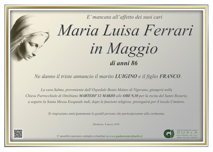Necrologio di Maria Luisa Ferrari in Maggio