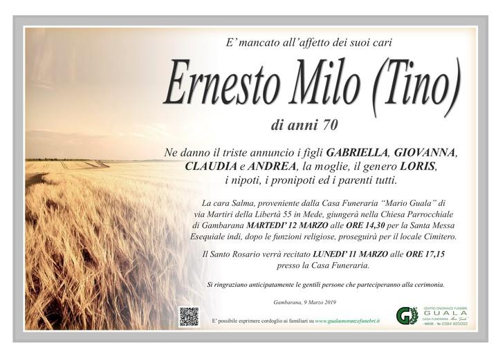 Necrologio di Ernesto Milo (Tino)