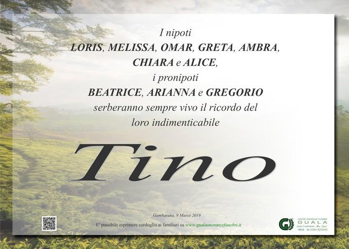 Ringraziamenti per Ernesto Milo (Tino)