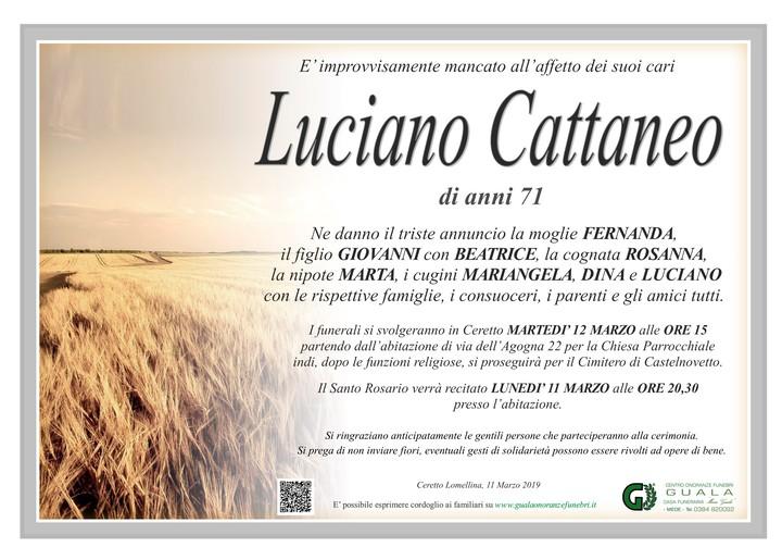 Necrologio di Luciano Cattaneo