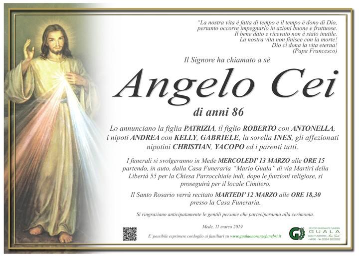 Necrologio di Angelo Cei