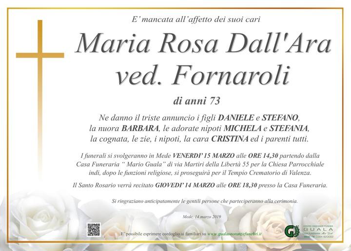 Necrologio di Maria Rosa Dall'Ara ved. Fornaroli