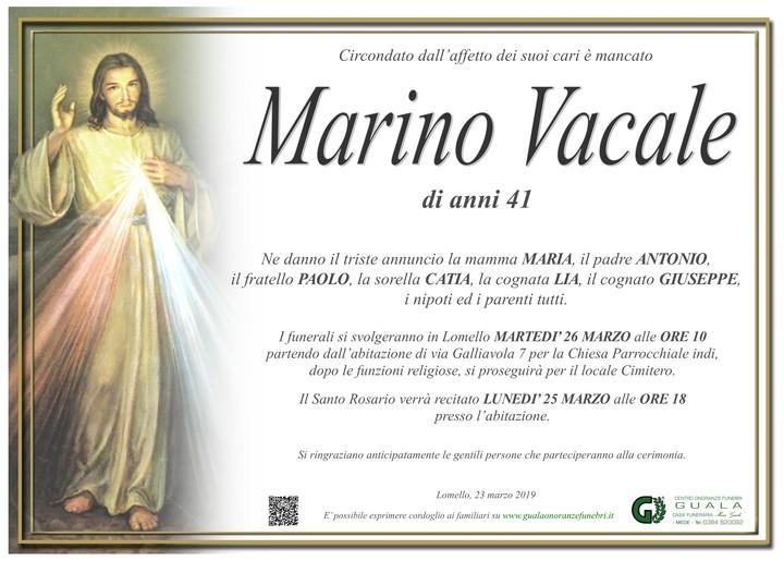 Necrologio di Marino Vacale