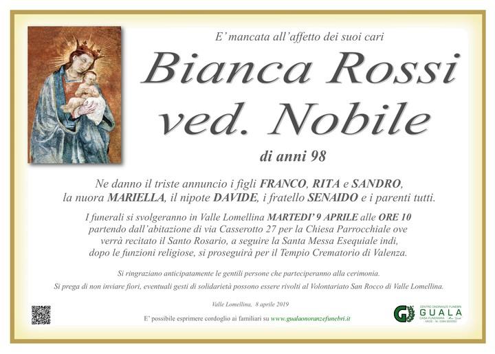 Necrologio di Bianca Rossi ved. Nobile