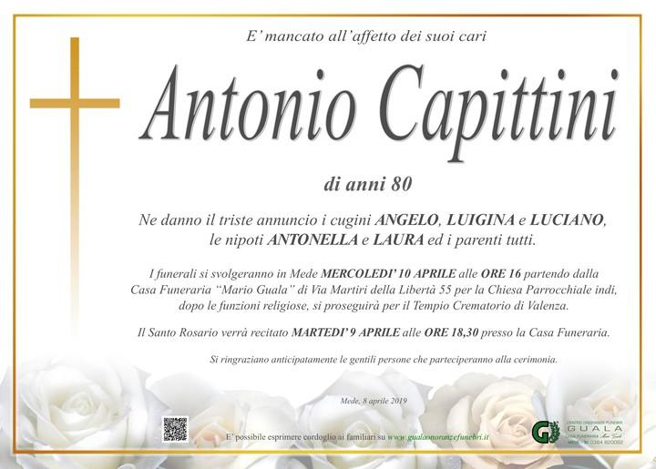Necrologio di Antonio Capittini