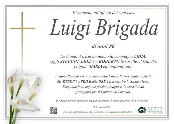 Necrologio di Luigi Brigada