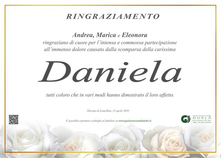 Ringraziamenti per Daniela Cassi