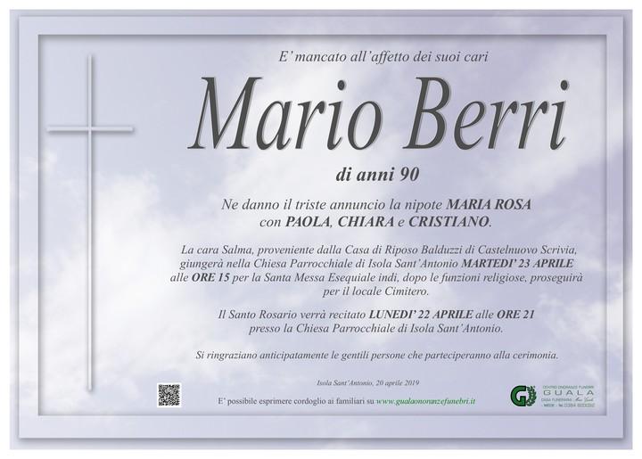 Necrologio di Mario Berri