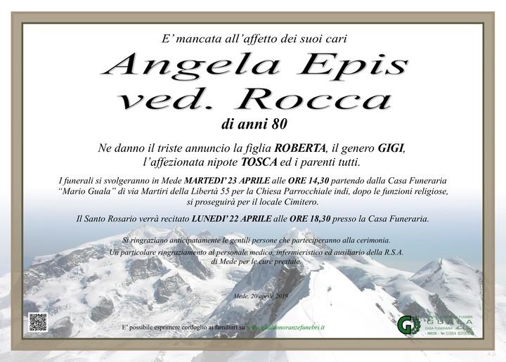 Necrologio di Angela Epis ved. Rocca