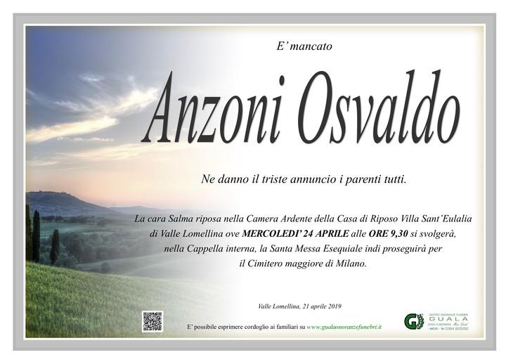 Necrologio di Osvaldo Anzoni