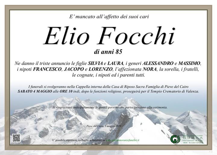 Necrologio di Elio Focchi
