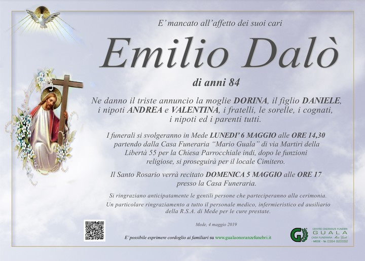 Necrologio di Emilio Dalò