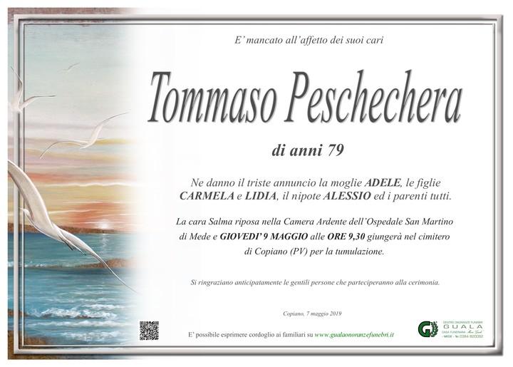 Necrologio di Tommaso Peschechera