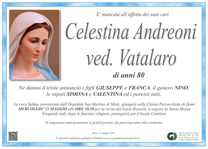 Necrologio di Celestina Andreoni ved. Vatalaro
