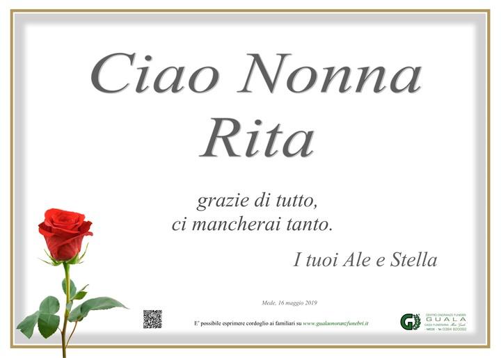 Ringraziamento per Rita Pettenon ved. Papetti