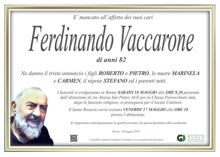 Necrologio di Ferdinando Vaccarone