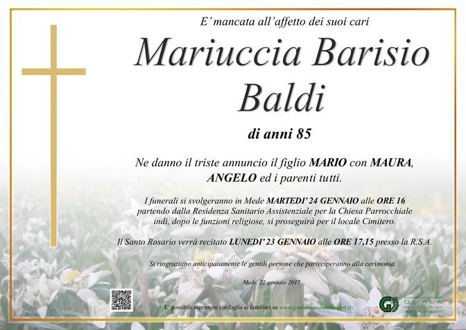 Necrologio di Mariuccia Barisio Baldi