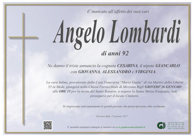 Necrologio di Angelo Lombardi