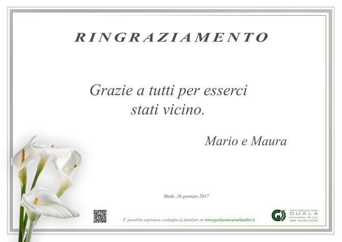 Necrologio di Ringraziamento Mariuccia Barisio Baldi
