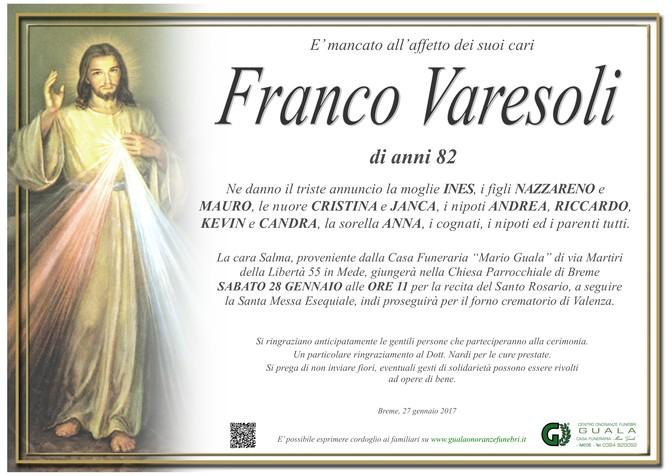 Necrologio di Franco Varesoli