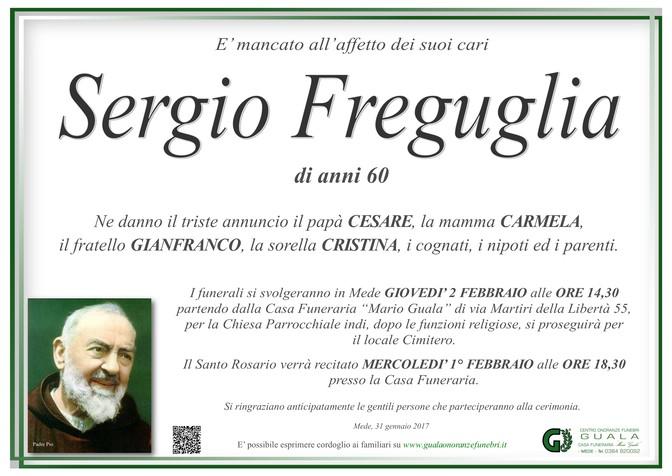 Necrologio di Sergio Freguglia