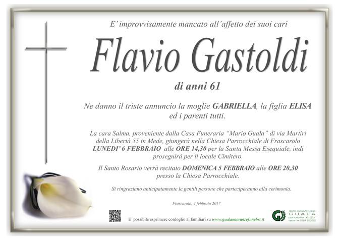 Necrologio di Flavio Gastoldi