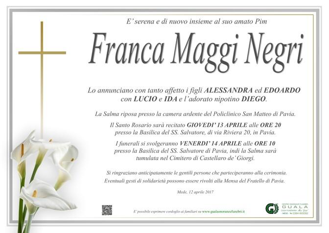 Necrologio di Franca Maggi