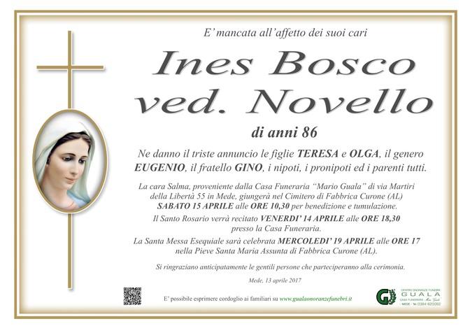 Necrologio di Ines Bosco ved. Novello