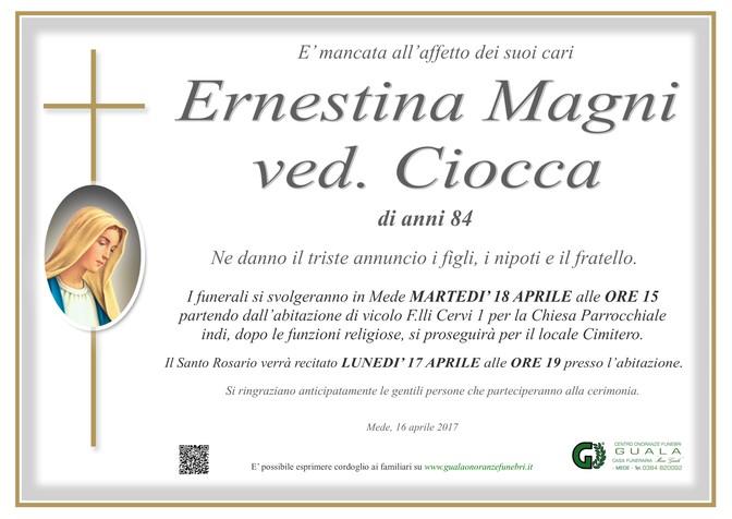 Necrologio di Ernestina Magni ved. Ciocca