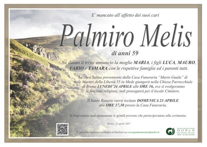 Necrologio di Palmiro Melis