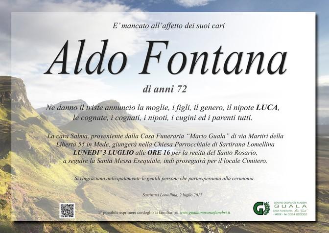 Necrologio di Aldo Fontana