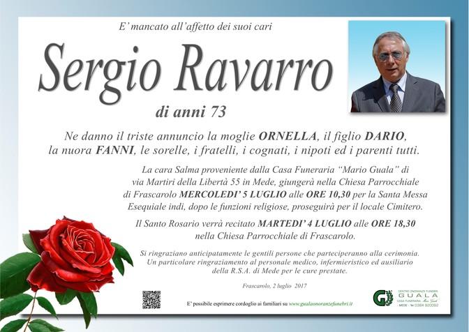 Necrologio di Sergio Ravarro