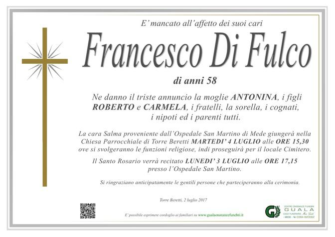 Necrologio di Francesco Di Fulco