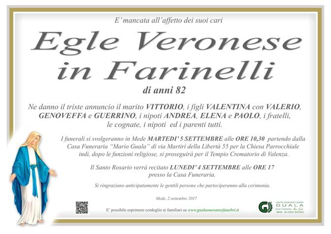 Necrologio di Egle Veronese in Farinelli