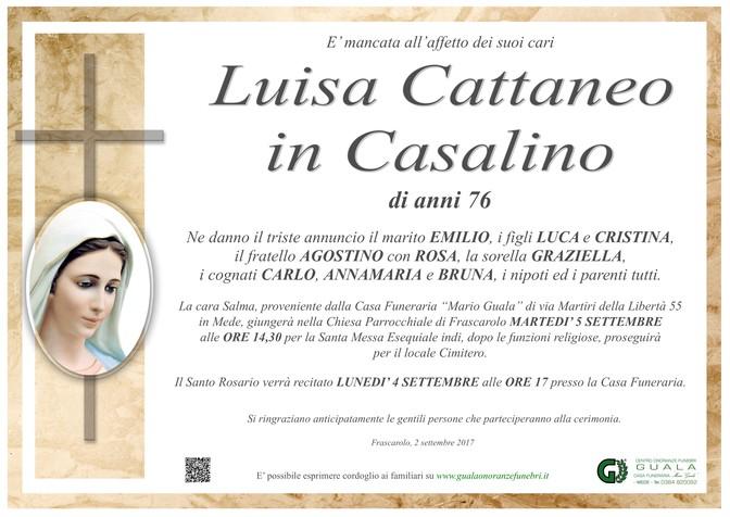 Necrologio di Luisa Cattaneo in Casalino