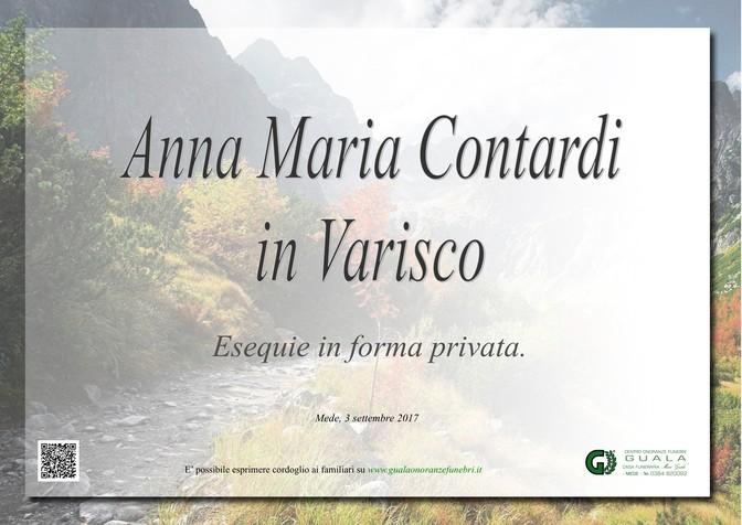 Necrologio di Anna Maria Contardi