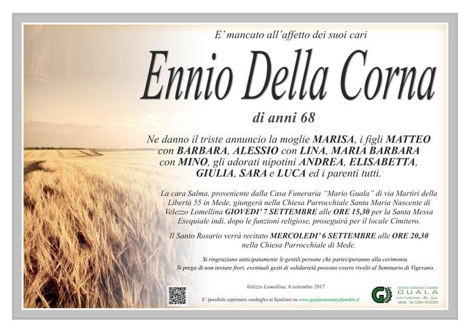 Necrologio di Ennio Della Corna